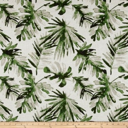 Premier Prints Frond Flax Basketweave Lubu Fabric