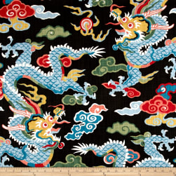 Home Accent Dragon Black Magic Fabric