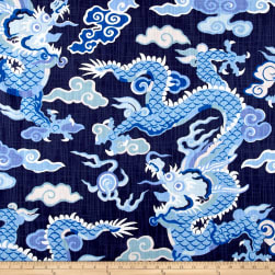 Home Accent Dragon Royal Blue Fabric