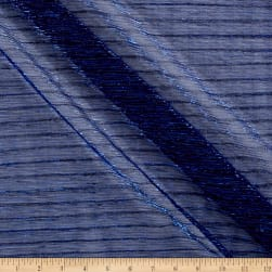 Starlight Expo Sheer Slinky Knit Blue/Black Fabric