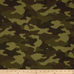 Kaufman Sevenberry Flannel Camouflage Camouflage Fabric
