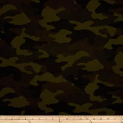 Kaufman Sevenberry Flannel Camouflage Khaki Fabric