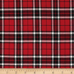 Kaufman Sevenberry: Classic Plaid Twill Plaid Red Fabric