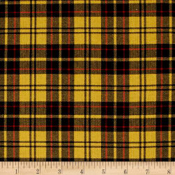Kaufman Sevenberry: Classic Plaid Twill Plaid Yellow Fabric