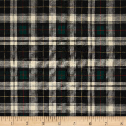 Kaufman Sevenberry: Classic Plaid Twill Plaid Hunter Fabric