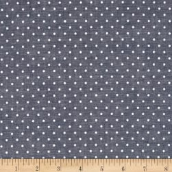 Kaufman Sevenberry Classiques Chambray Dots Royal Fabric