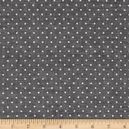 Kaufman Sevenberry Classiques Chambray Dots Black Fabric