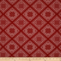 Kaufman Sevenberry Bandana Red Fabric