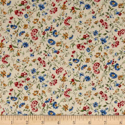 Kaufman Sevenberry: Petite Garden Lawn Flowers Summer Fabric