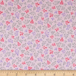 Kaufman Monkey Hangout Flannel Branches Pink Fabric