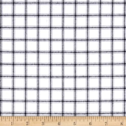 Kaufman Brooklyn Plaid Flannel White Fabric