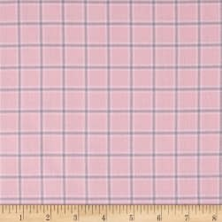 Kaufman Brooklyn Plaid Flannel Pink Fabric