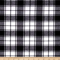 Kaufman Brooklyn Plaid Flannel Black Fabric