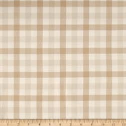 Kaufman Brooklyn Plaid Flannel Natural Fabric
