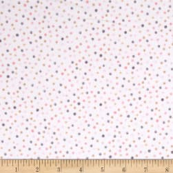 Kaufman Cuddly Kittens Flannel Dot Tan Fabric
