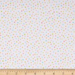 Kaufman Cuddly Kittens Flannel Dot Ivory Fabric