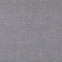 Kaufman Neon Neppy Chambray Grey Fabric