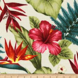 Kaufman Sevenberry Island Pardise Barkcloth Tropical