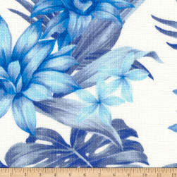 Kaufman Sevenberry Island Pardise Barkcloth Blue Fabric