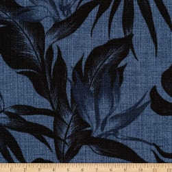 Kaufman Sevenberry Island Pardise Barkcloth Denim Fabric
