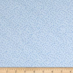 Kaufman Baby Bunting Dots Flannel Blue Fabric
