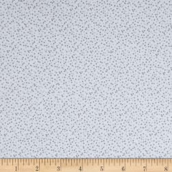 Kaufman Baby Bunting Dots Flannel Grey