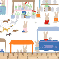 Dear Stella Market Bunny Produce Stands Multi Fabric