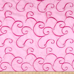 Embroidered Organza Fuchsia Fabric