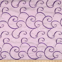 Embroidered Organza Violet Fabric