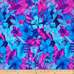 Tahitian Floral Printed Athletic Knit Original Turquoise/Magneta