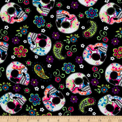 Activewear Knit Sugar Skulls Neon/Black