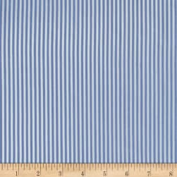 Telio Colorado Poly Faille Stripe Light Blue Fabric