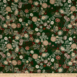 Telio Robin Crepe Forest Floor Forest Fabric