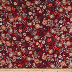 Telio Robin Crepe Forest Floor Wine Fabric