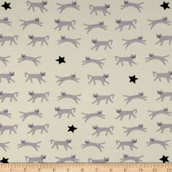 Cotton + Steel Jersey Knit Hello Snow Leopard Neutral Fabric