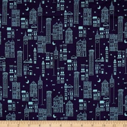 Cotton + Steel Lawn Lawnquilt Metropolis Navy Fabric