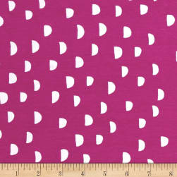 Cotton + Steel Jersey Knit Dress Shop Moons Orchid Fabric