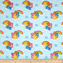 Care Bears Nostalgic Rainbow Blue Fabric