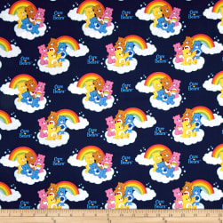 Care Bears Nostalgic Rainbow Navy Fabric