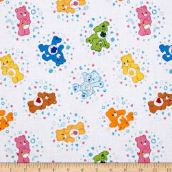 Care Bears Belly Badge White Fabric