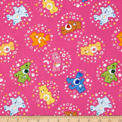 Care Bears Belly Badge Hot Pink Fabric