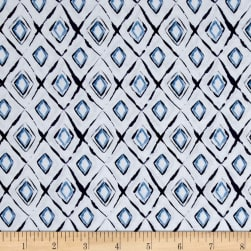 Camelot Collection Crystal Blue/White Fabric
