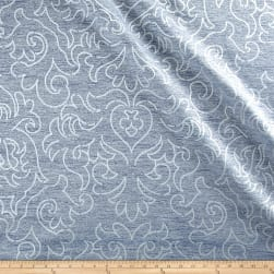 Wesley Mancini Home Jacquard Aerospace Blues Fabric