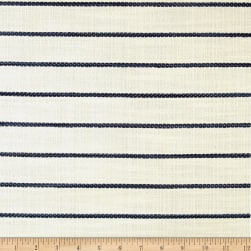 Wesley Mancini Home Faux Linen Basketweave Horizon Stripe