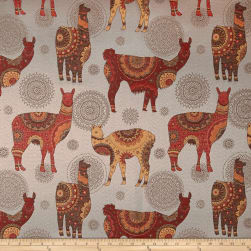 Artistry Llama Lavish Jacquard Neutral Fabric