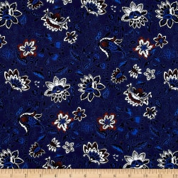 Thakoon Folksy Floral Voile Navy/Cream/Red Fabric