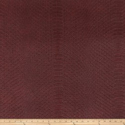 Richloom Tough Faux Leather Safari Burgundy