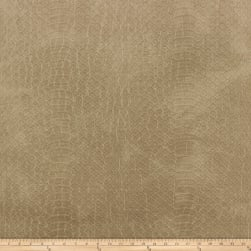 Richloom Tough Faux Leather Safari Sandstone Fabric