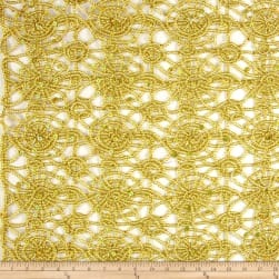 Sequin Lace Gold Fabric