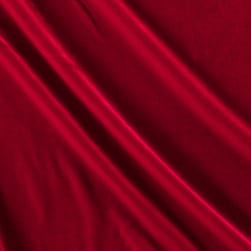 Stretch Velvet Red Fabric